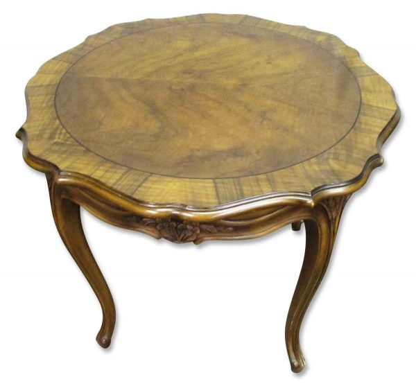 Floral Carved Wood Coffee Table - Living Room