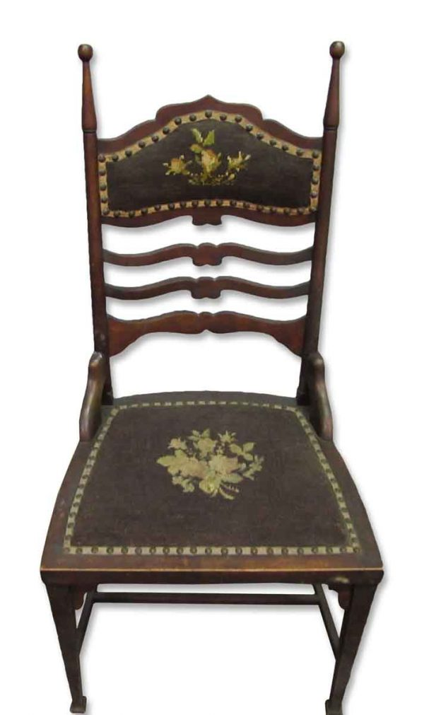 Antique Chair with Needle Point Seat & Back - Seating