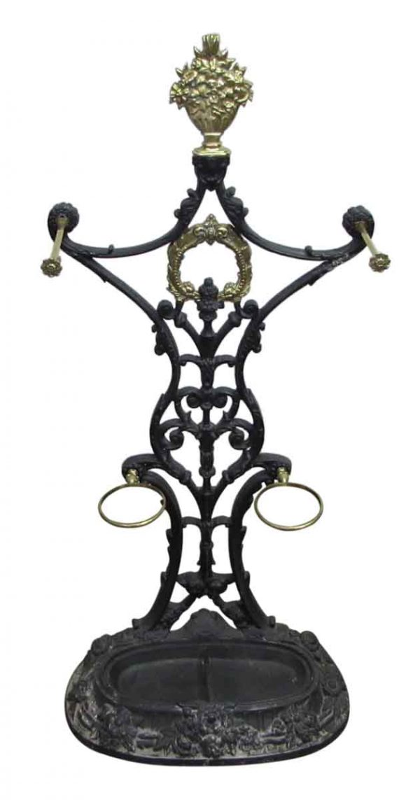 Ornate Cast Iron Hall Tree - Umbrella Holders