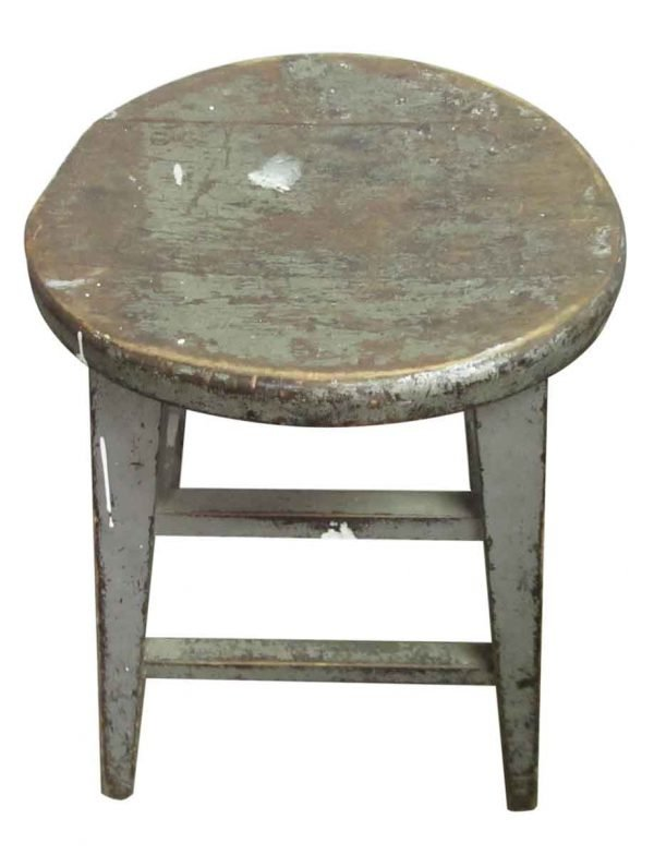 Gray Wooden Stool - Seating