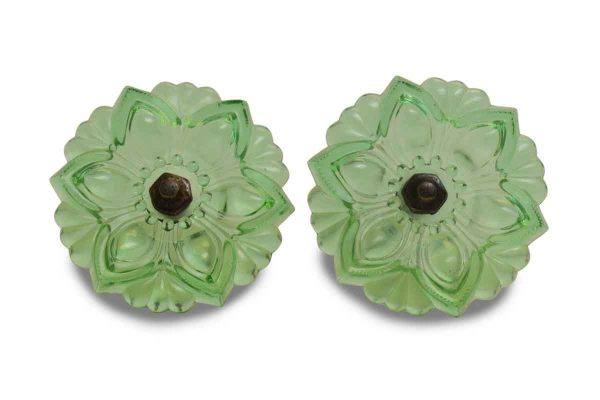 Pair of Repro Green Glass Curtain Tie Backs - Curtain Hardware