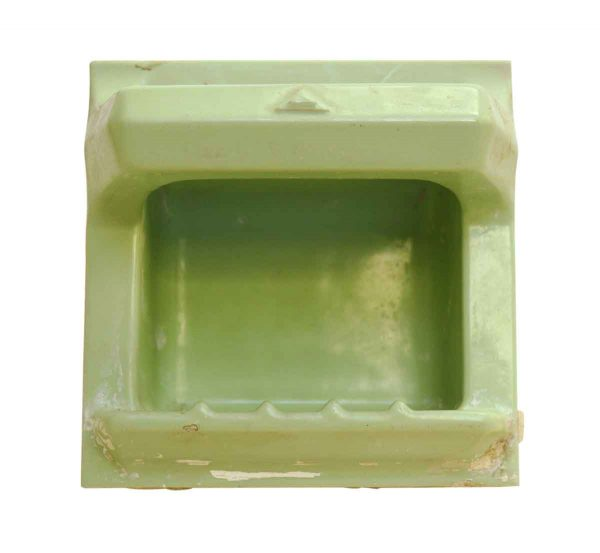 Green Mint Porcelain Vintage Soap Dish - Bathroom
