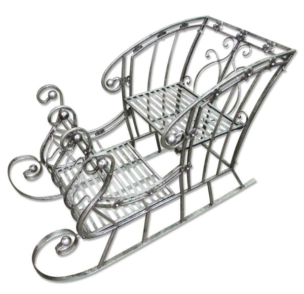 Vintage Wrought Iron 'Sleigh' Plant Stand - Garden Elements
