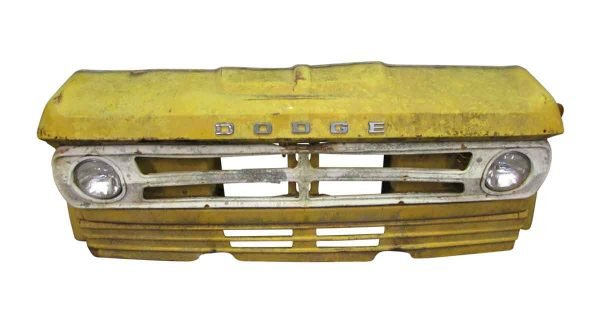 Yellow Dodge Car Front - Car Fronts & Parts