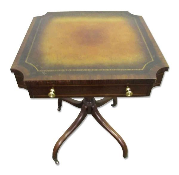 Leather Side Table - Living Room