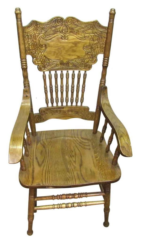 Wooden Carved Back Rest Chair - Seating