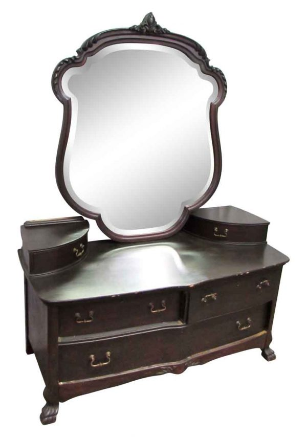 Mahogany Dresser with Big Mirror - Bedroom