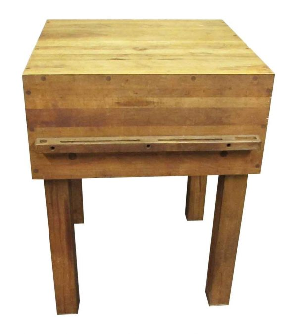 Mid Century Butcher Block Table - Kitchen