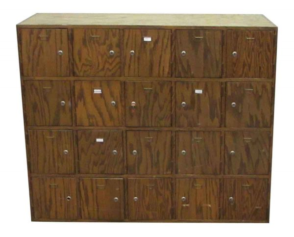 Wooden Locker Unit - Office Furniture