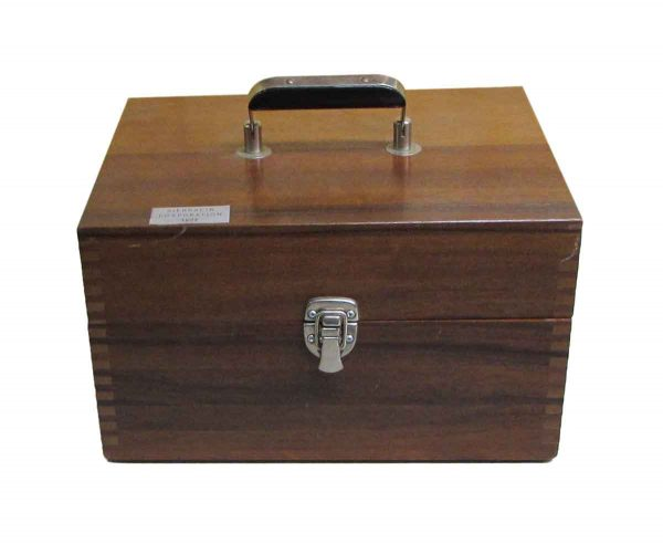 Scientific Apparatus in Walnut Carrying Case - Suitcases