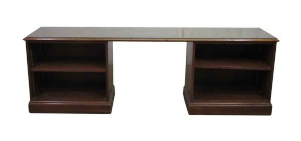 Long Office Desk with Two Cubbies - Office Furniture