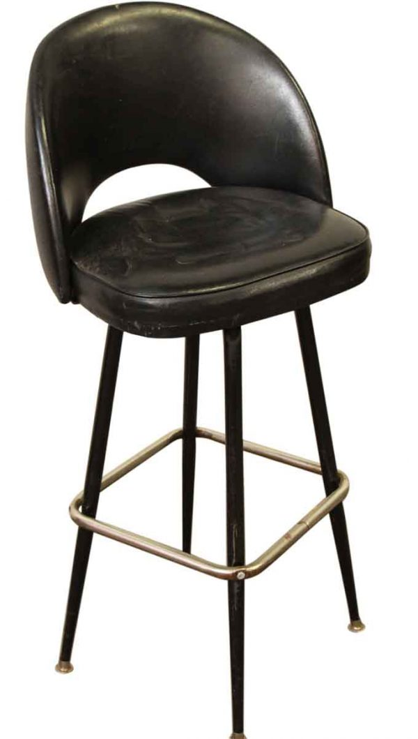 Mid Century Black Bar Stool - Seating