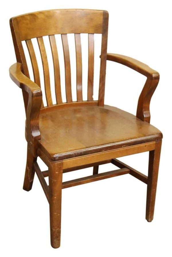 Solid Maple Bankers Arm Desk Chair - Seating