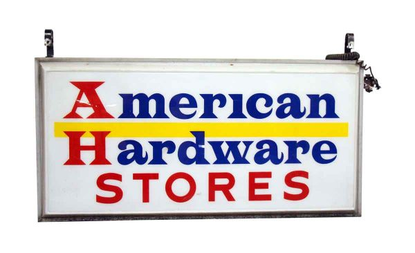 American Hardware Store Sign - Vintage Signs