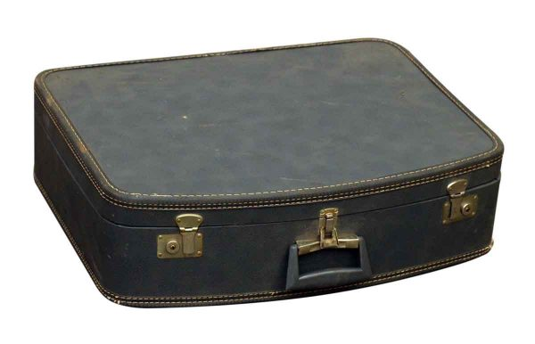 Faux Leather Locking Briefcase - Suitcases
