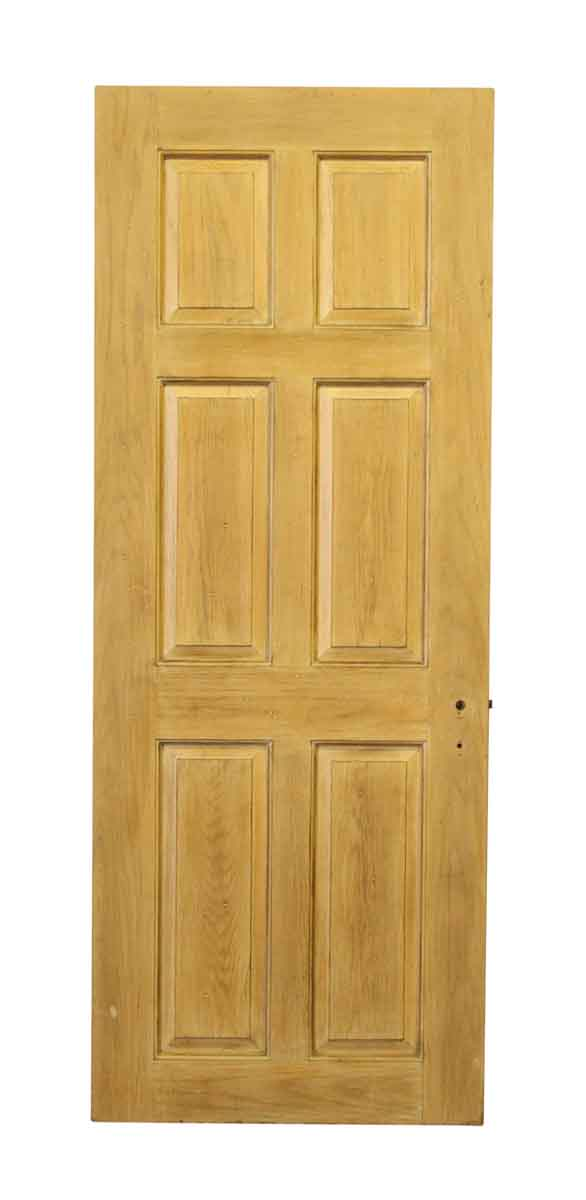 Six Panel Wooden Door with No Hardware - Standard Doors