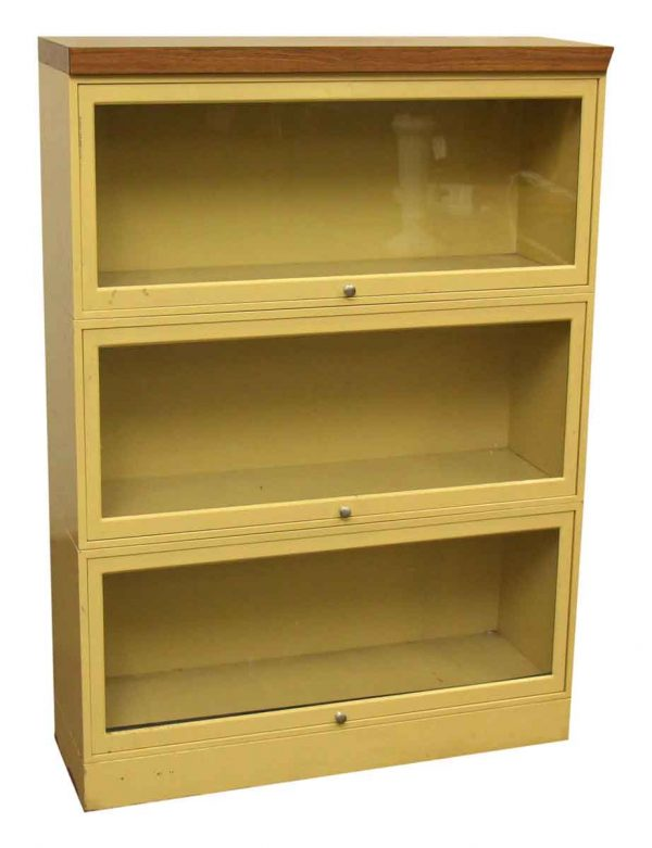 Yellow Metal Barrister Bookcase - Bookcases