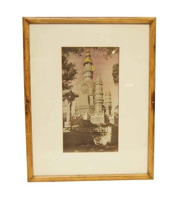 Framed & Matted Picture of a Church - Photographs