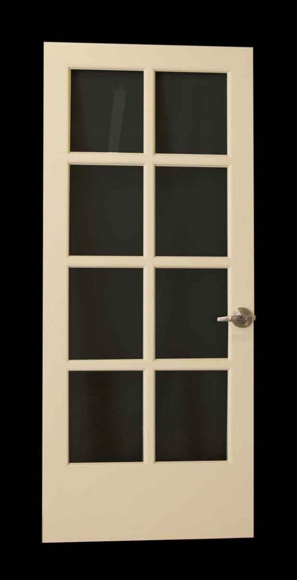White Door with Eight Glass Panels - French Doors