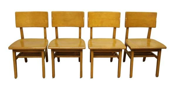 Set of Blonde Wood Chairs - Seating