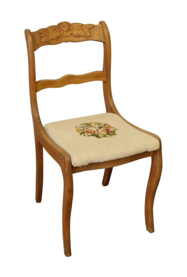 Floral Carved Chair - Seating
