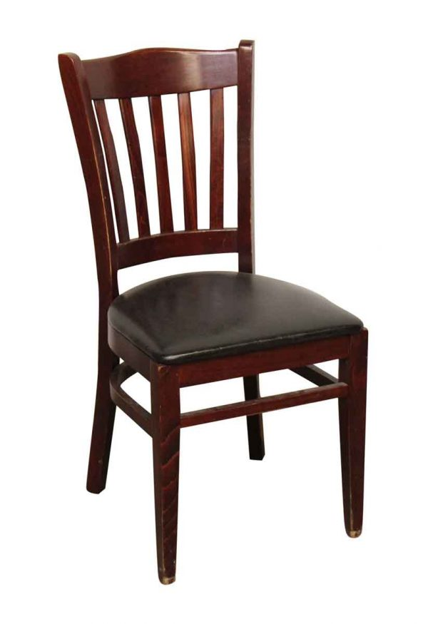 New Wood & Vinyl Dining Chair - Seating