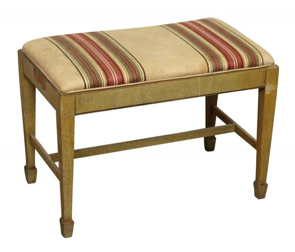 Wooden Bench or Piano Bench with Upholstered Seat  - Seating