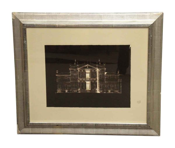 Matted Brown & White House Photo - Photographs