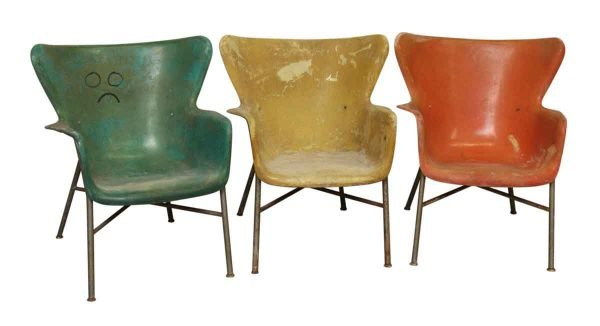 Multicolored Fiberglass Chairs - Seating