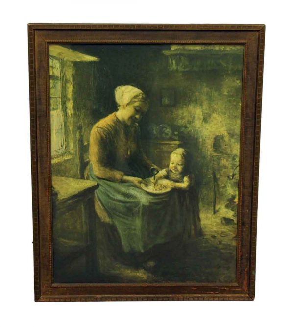 Painting of a Mother & Child - Paintings