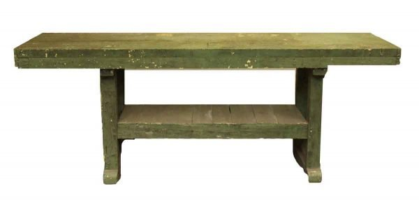 Vintage Work Bench with Multi Layers of Paint - Industrial