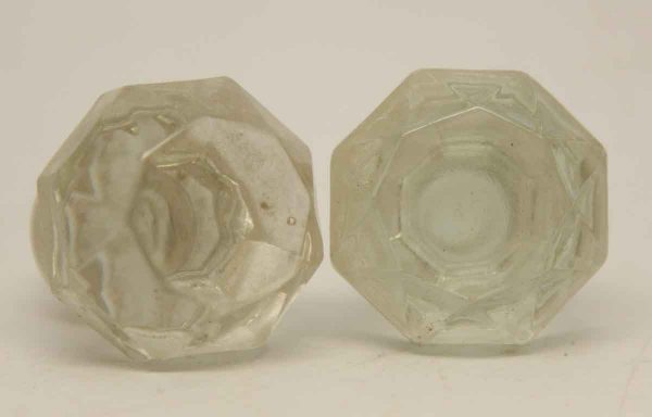 Pair of Clear Glass Stoppers - Bottle Stoppers