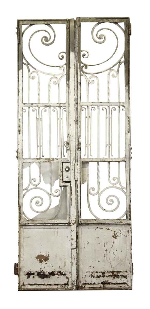 19th Century Tall Wrought Iron Entry Gates or Doors - Entry Doors
