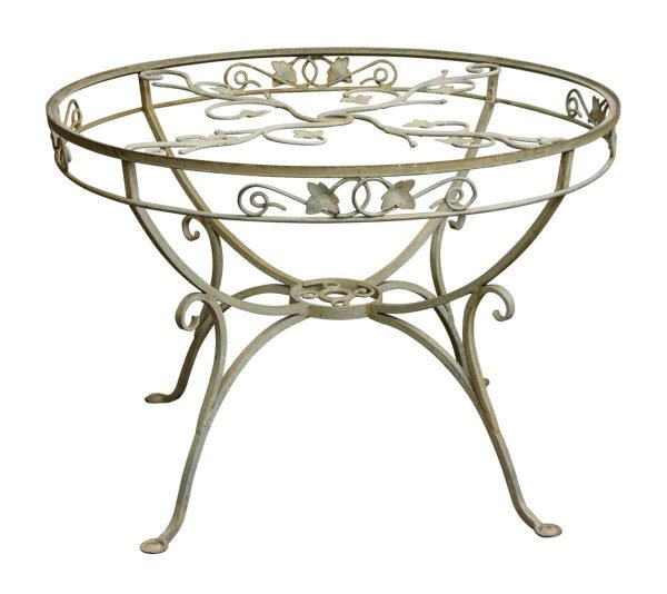 Wrought Iron Patio Table with Vine Detail - Patio Furniture