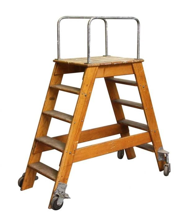Putnam Rolling Ladder Co. NY. Two Sided Step Ladder - Ladders