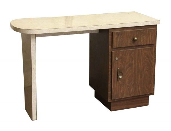 Counter Style Veneer & Wood Desk - Office Furniture