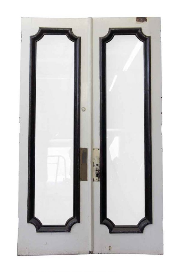Tall Double Swing Doors with Full Glass Panel - Commercial Doors