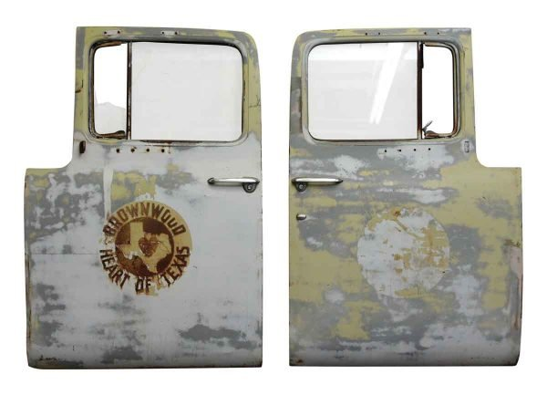 Pair of Salvaged Truck Doors - Car Fronts & Parts