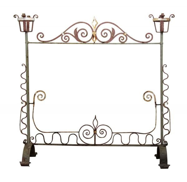 Large Wrought Iron Fire Place Screen - Decorative Metal