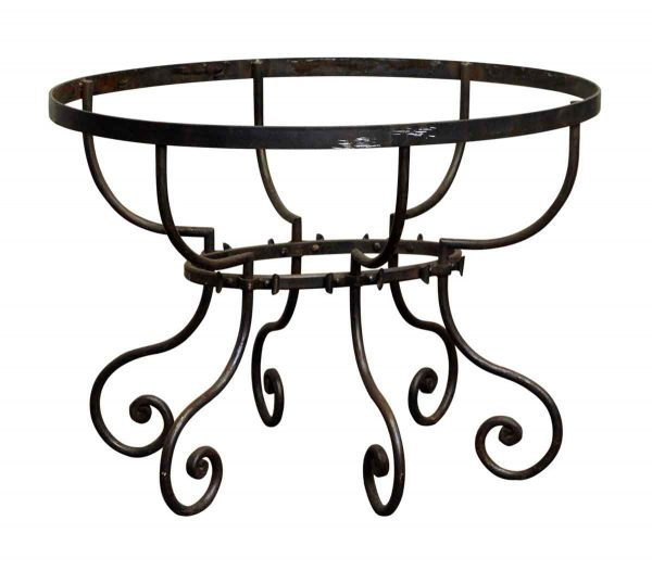 Iron Table with Curled Legs - Table Bases