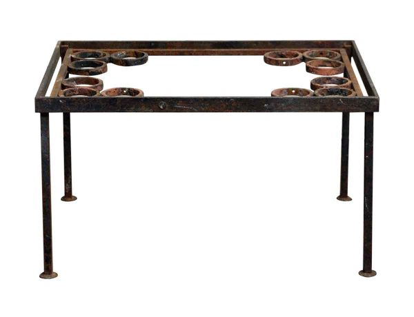 Wrought Iron Coffee Table with Spherical Details - Altered Antiques