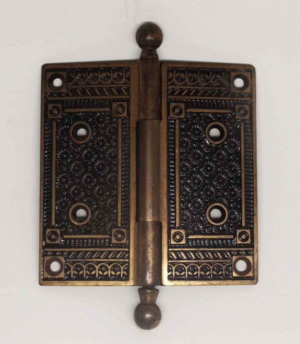 Field Floral Bronze Ball Tip Hinge - Door Hinges