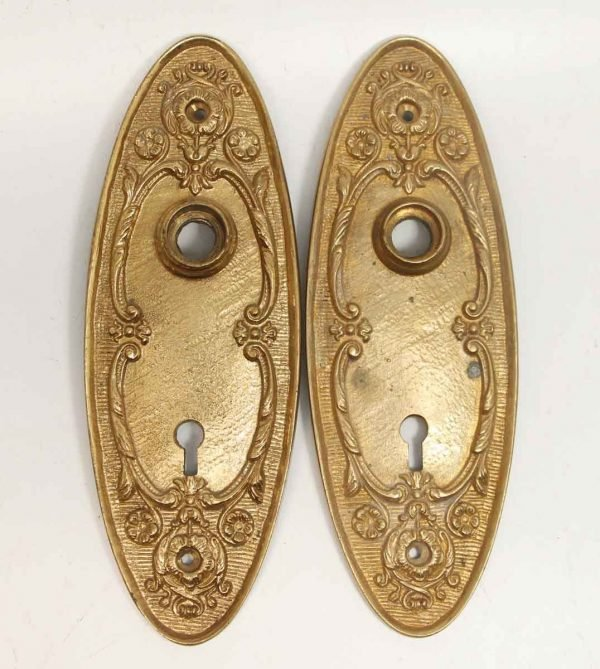 Pair of French Gold Gilded Plates - Back Plates