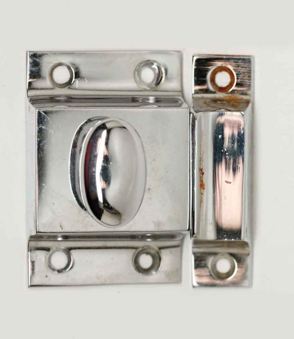 Original 1930s Chrome Plated Cabinet Latch - Cabinet & Furniture Latches