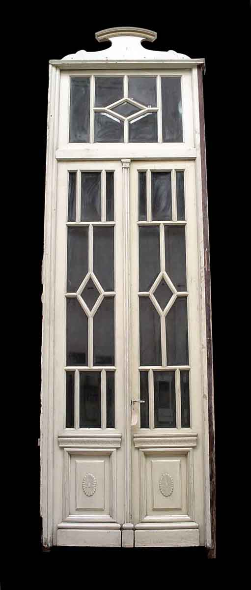 Beveled Glass Doors with Transom - Entry Doors