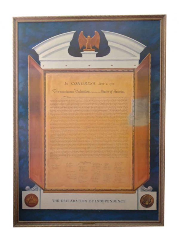 Commemorative Declaration of Independence Lithograph - Prints