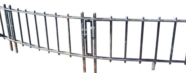 Curved Wrought Iron Balcony with Deco Design - Balconies & Window Guards