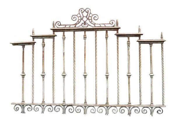 Pair of Heavy Gauge Cast & Wrought Iron Fence Sections - Fencing