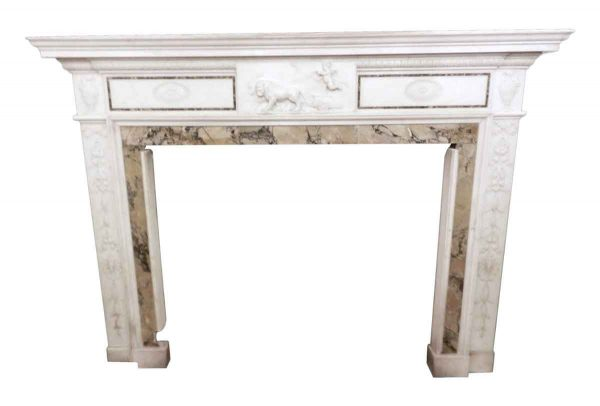 Georgian Marble Mantel with a Sienna Inlay - Mantels