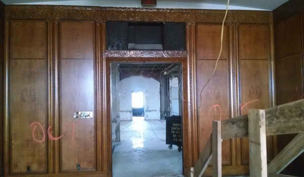Highly Carved Art Deco Walnut Paneled Room - Paneled Rooms & Wainscoting